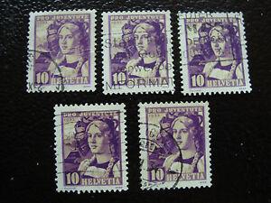 Switzerland-Stamp-Yvert-and-Tellier-N-268-x5-Obl-A14-Stamp-Switzerland