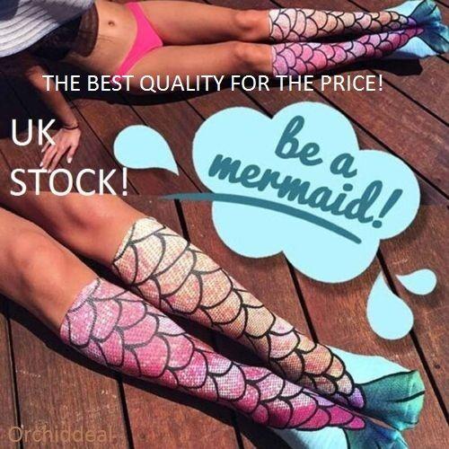 UK STOCK    NEW Women Girls Mermaid Funny Knee Socks gift!
