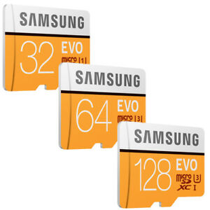 Samsung EVO 256GB 128GB 64GB 32GB micro SD SDHC SDXC Lot 100MB/s* Card Class10