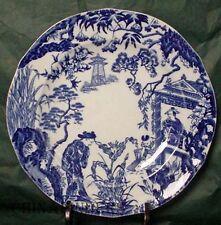 "ROYAL CROWN DERBY china BLUE MIKADO pattern Salad or Dessert Plate 8-1/8"""