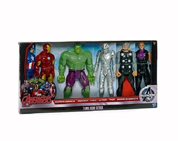Marvel avengers  titan h é ros (6 - figuren iron man, hulk d'action)