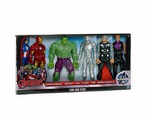 Marvel Avengers: Titan Heroes (6 figurines d'action) Iron Man, Hulk - Nouveau dans la boîte 5010994899363
