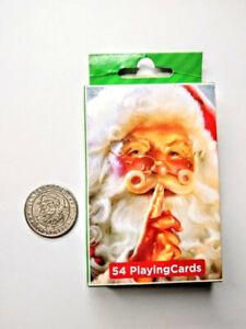 Santa-039-s-Land-Cherokee-NC-Good-Luck-Souvenir-Coin-Token-and-52-Playing-Santa-Card