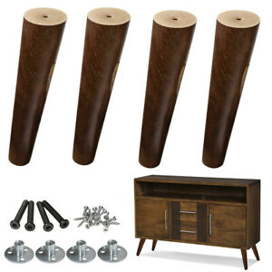 Slanted 8 Inch Wood Legs For Sofa Bench