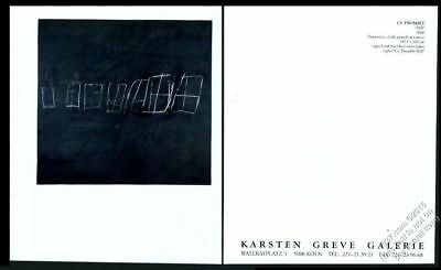 1991 Cy Twombly Hil 1966 Art Koln Gallery Vintage Print Ad Extremely Efficient In Preserving Heat 1990-now Advertising-print