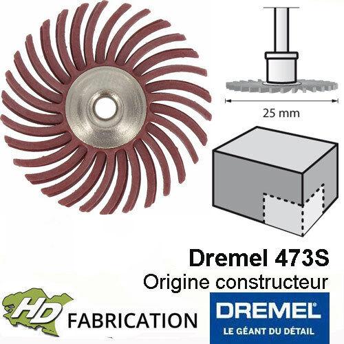 2615S473JA Brosse abrasive 25mm grain 220  Dremel 4731S