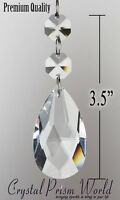 50pck Replacement Chandelier Lamp Double Crystals & Hanging Prisms Parts |