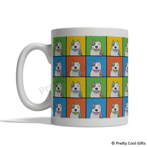 Cartoon Pop Art Coffee Tea Cup 11oz Ceramic Pit Bull Pitbull Dog Mug