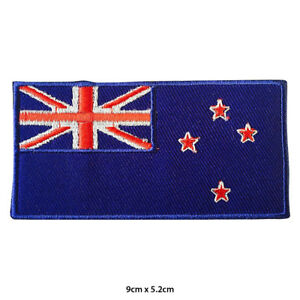 New Zealand National Flag Embroidered Patch Iron on Sew On Badge For Clothes etc