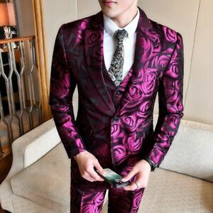 Floral-Printed-Suit-For-Men-Slim-Fit-Single-Breasted-Event-Party-Male-Wear-Suits
