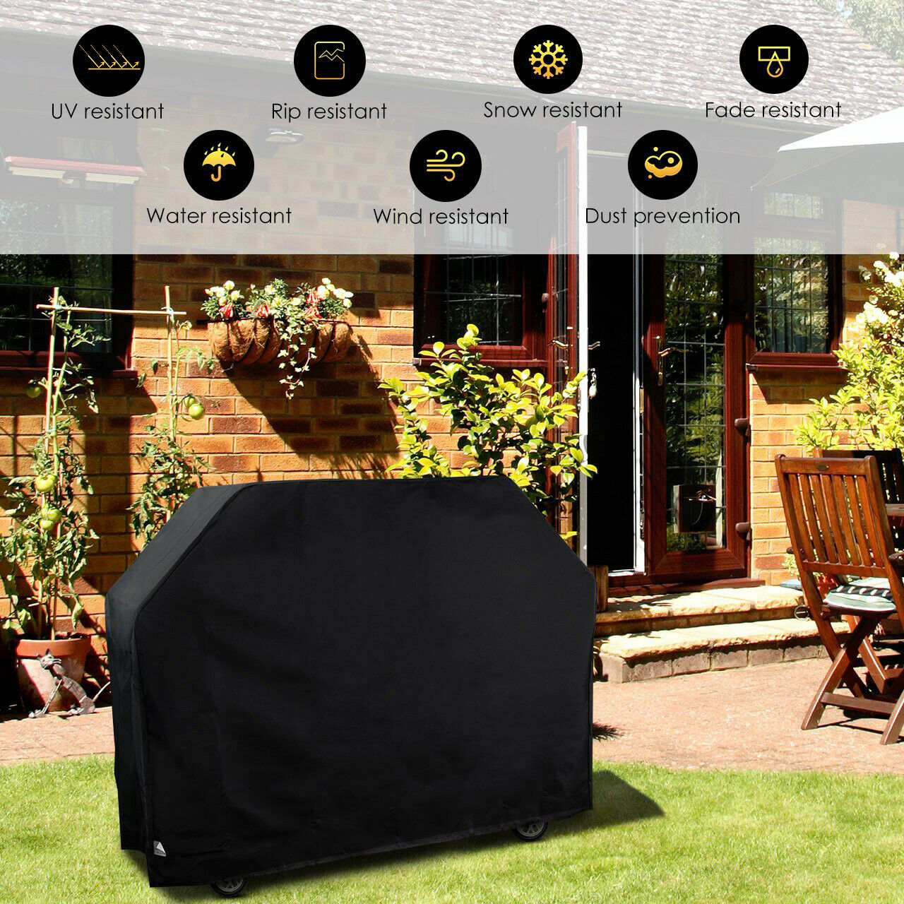 """210D Waterproof BBQ Grill Cover Gas Heavy Duty for Patio Outdoor 70/""""64/""""58/""""57/"""""""