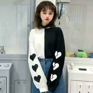 Woman Girl Long Sleeve T Shirt Cotton Harajuku Kawaii Clothing Korean Ulzzang Ebay