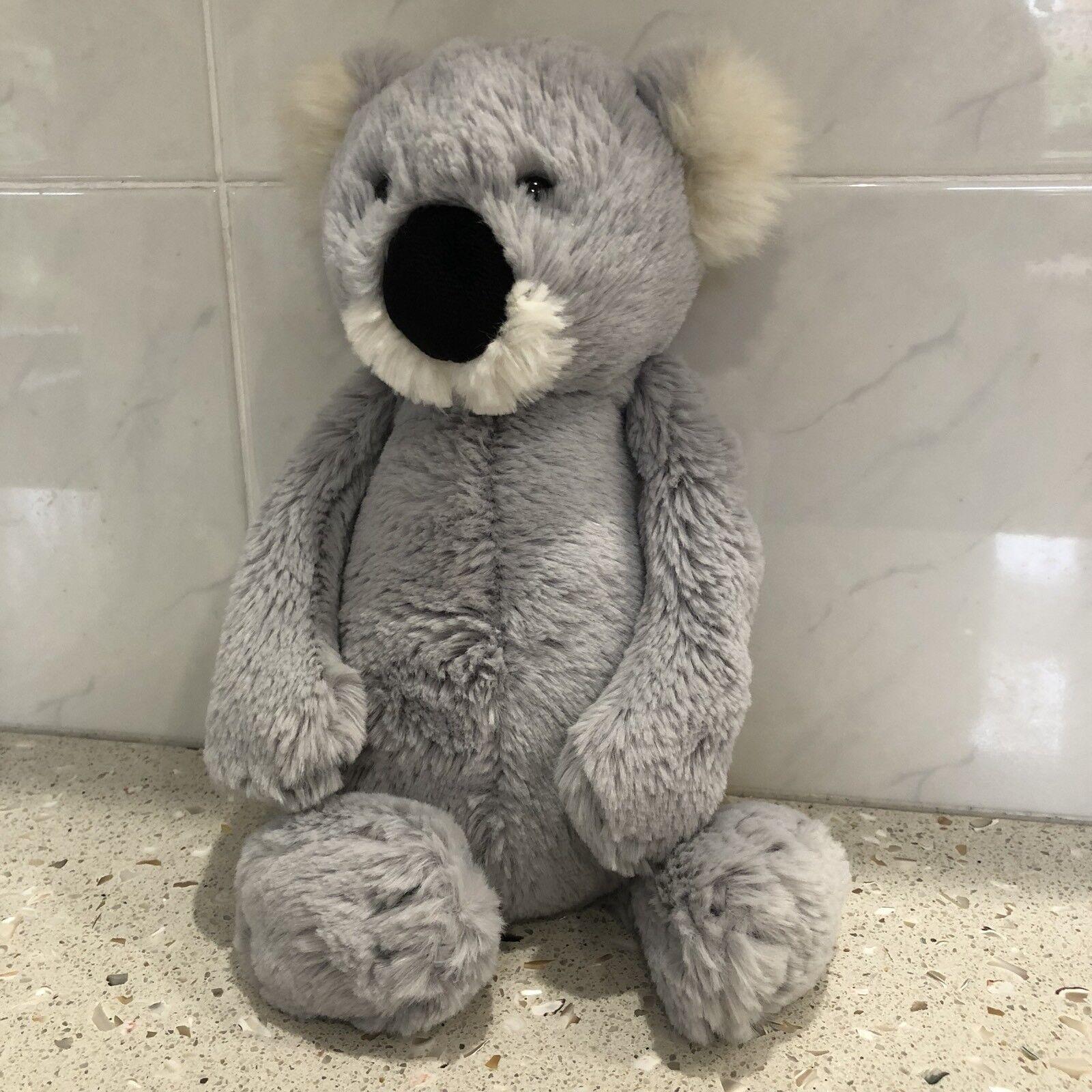 RARE JellyCat London KOALA morbido Beanie Toy