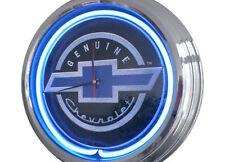 N-0241 Chevy Black - Deko Neon Uhr Clock Wanduhr Neonuhr Neonclock Werkstatt