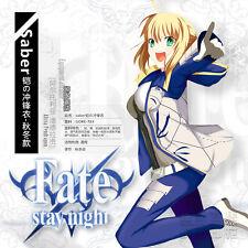 Anime FATE/ZERO Night Saber Altria Pendragon Sweater Hoodie Coat Cosplay New