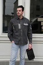 Men's Company Jeanshemd Herren Hemd 90er True VINTAGE 90´s men jeans shirt black
