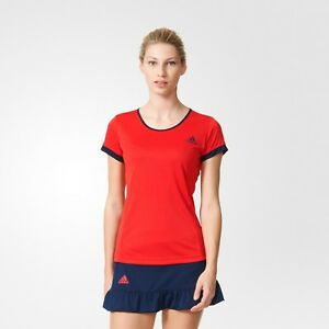 adidas-Performance-Court-Tee-Sizes-XS-M-Red-RRP-25-BNWT-AX8170