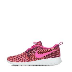 Crónico usuario Esperanzado  Nike Roshe Run One Flyknit Women's Trainers Shoes Pink Pow | eBay