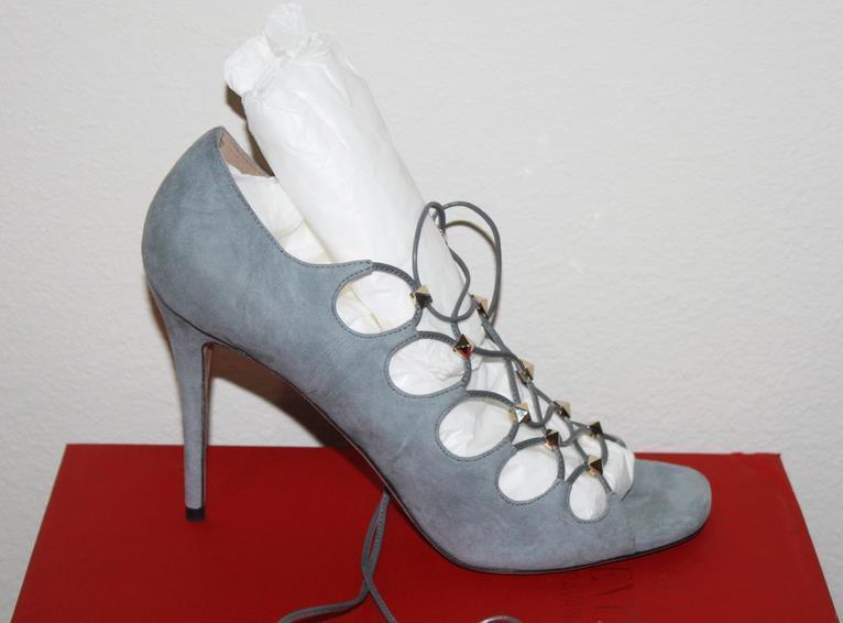 1145 Valentino femmes Suede Stubs High High High Heel 38 223d96
