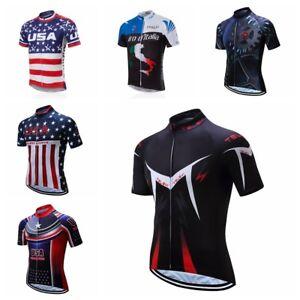 Image is loading TELEYI-2018-Cycling-Jersey-Bicycle-Short-Shirt-Summer- d0e86052b
