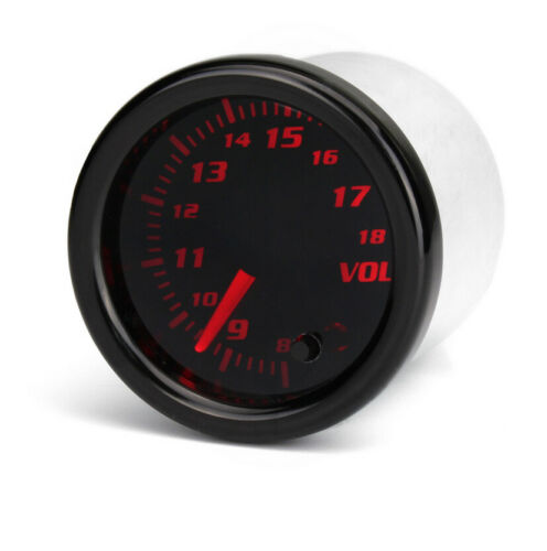 2/'/' 52mm Universal Car Auto Voltmeter 7 Color LED Volt Voltage Gauge Meter 12V