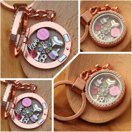 mum cousin sister Daughter Personalised BIRTHDAY Floating Memory Locket keyring