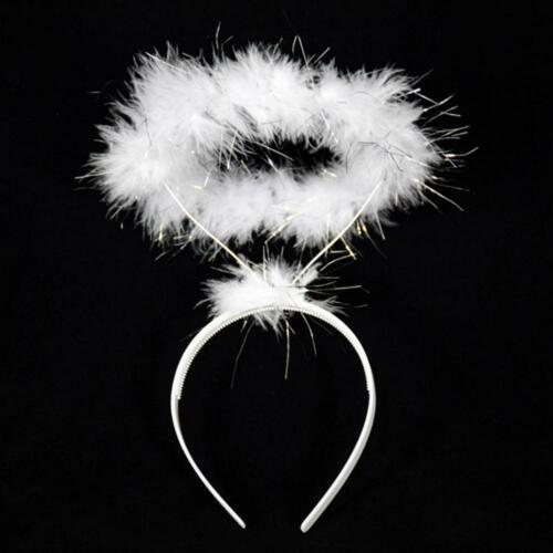 Ring Angel Fairy Costume Hen Night Feather Halo Headband Party Fancy Dress-up P