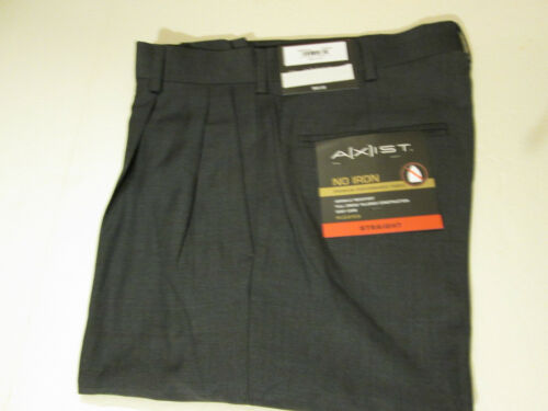 30 X 29 AXIST PLEATED AND CUFFED DRESS PANTS NWT CHARCOAL