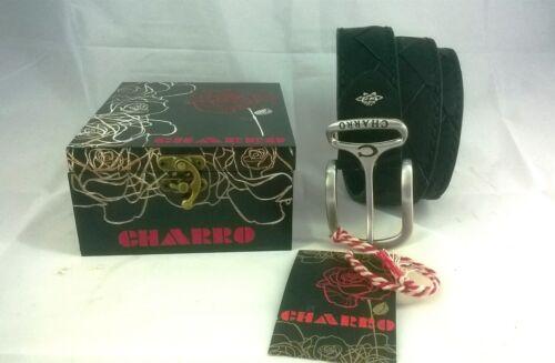 Cintura uomo Charro in ecopelle fibbia in acciaio confezione regalo legno 2010