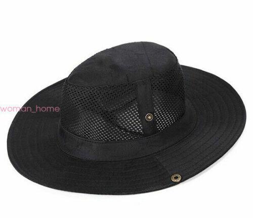 Boonie Bucket Hat Outdoor Fishing Hunting Wide Brim Mesh Safari Sun Unisex Cap