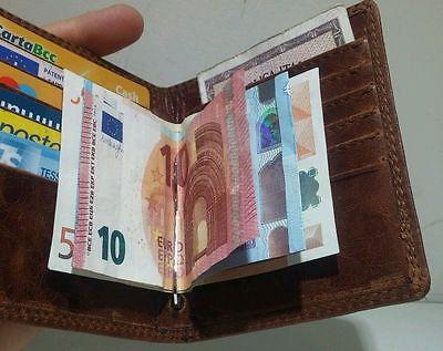 Utile Portafoglio Pelle Uomo Made In Italy Fatto A Mano Porta 11 Carte Di Credito