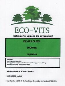 HIGH-STRENGTH-DEVILS-CLAW-5000mg-30-caps-ANTI-INFLAMMATORY-PAIN-RELIEF