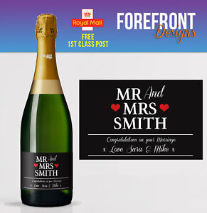 Image Is Loading Personalised Champagne Bottle Label Perfect Birthday Wedding Engagement