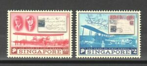 SINGAPORE-2019-100-YEARS-OF-FIRST-AIRMAIL-COMP-SET-OF-2-STAMPS-MINT-MNH-UNUSED