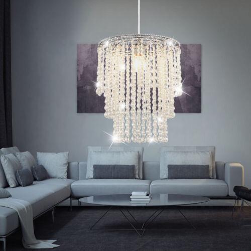 RGB LED Pendel Leuchte Fernbedienung Wohn Zimmer Kristall Decken Luster dimmbar