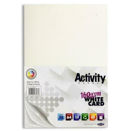 A4 White Card 50 Sheets160gsm Card Making Printer Craft Thick Paper Scrapbooking
