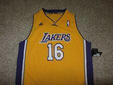 NWT Pau Gasol Los Angeles Lakers NBA Basketball Jersey Adidas Swingman Youth XL
