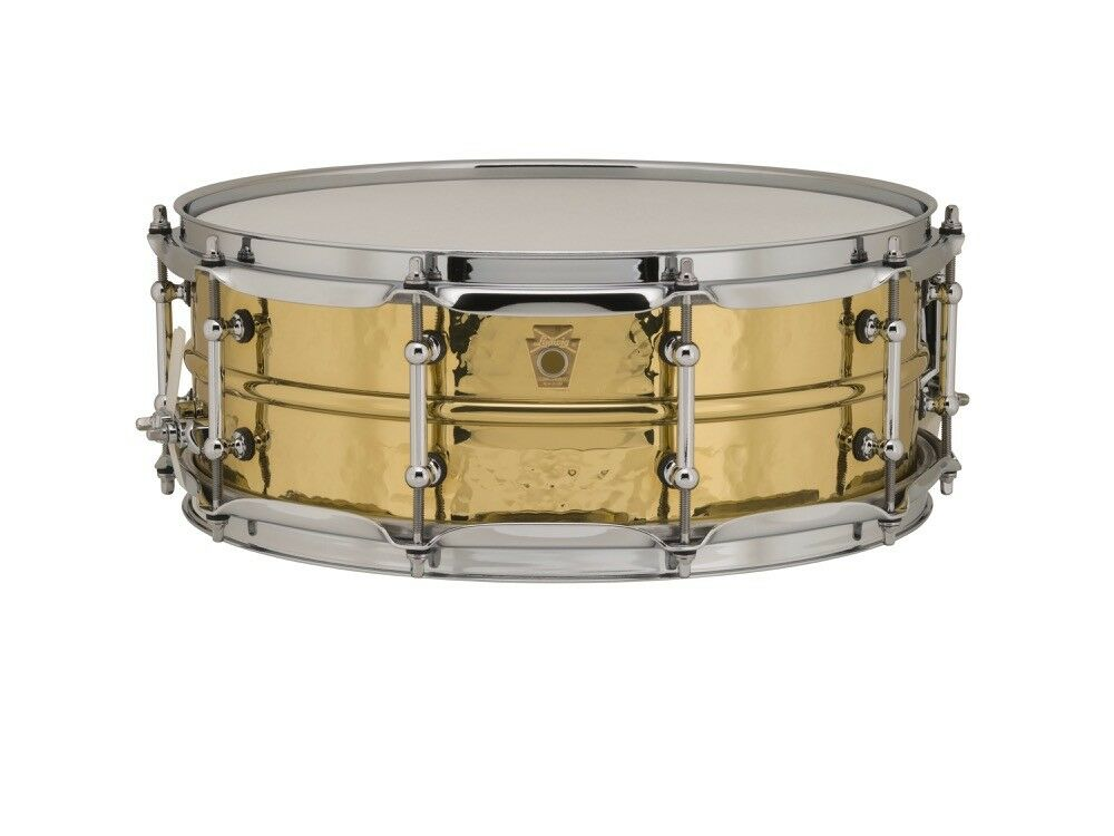 Ludwig Supraphonic Brass Hammered Snare Drum w  Tube Lugs 5x14 - Video Demo