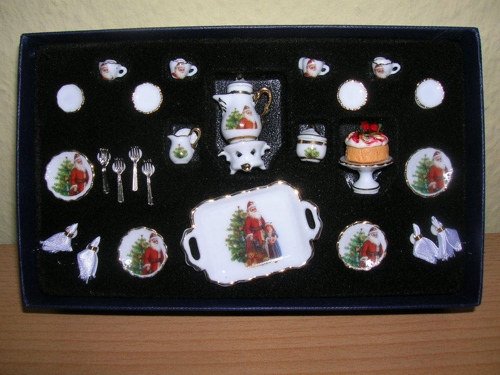 Reutter Porzellan Servizio Caffè 25tlg Natale Puppenstube 1 12 Art. 1.334 3