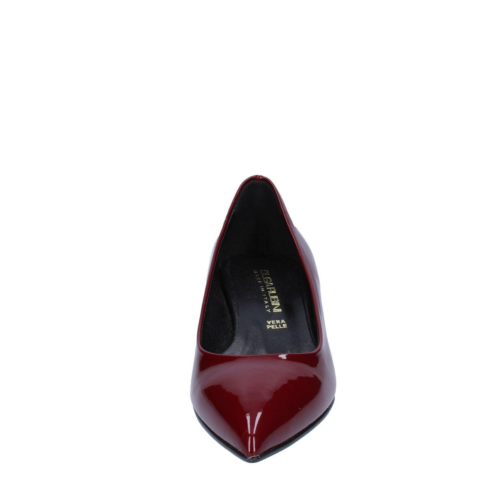 Woherren schuhe OLGA RUBINI 8 (EU (EU (EU 38) pumps burgundy patent leather BX791-38 406d94