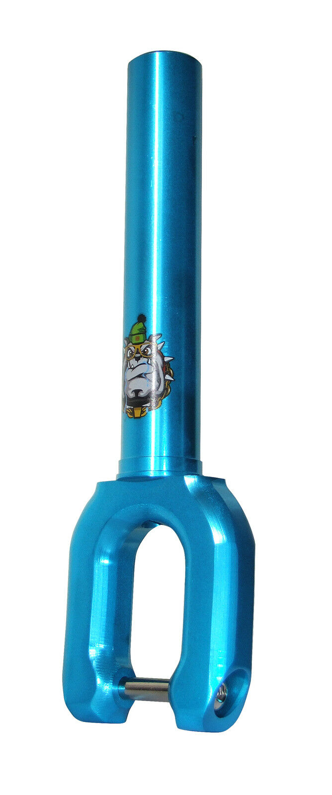 TEAM DOGZ THREADLESS blueE FAT FORKS 4 STUNT PRO SCOOTER FITS 100MM 110MM WHEELS