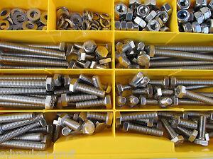 410 Teile Edelstahl Schrauben DIN 912 Muttern Box M8