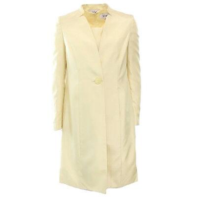 1046-2 Le Suit Nuovi Gialli Donna Taglia 6 Cucito Single-button Abito Vestito Ampia Selezione;