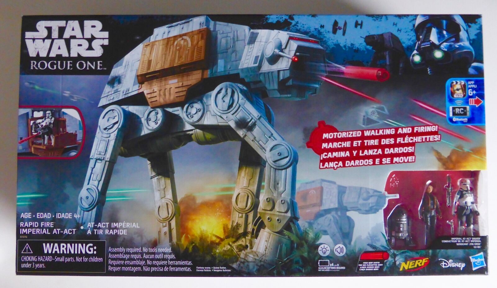 STAR WARS NEW ROGUE ONE NON MINT RAPID FIRE IMPERIAL AT-ACT REMOTE WALKER MISB