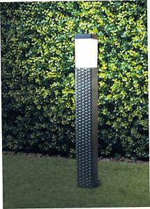 Solar-Power-Rattan-Effect-Post-Light-Path-Walkway-Outdoor-Lamp-LED-Light-Decor