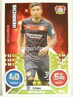 Match Attax 2016/17 Bundesliga - #225 Benjamin Henrichs - Bayer 04 Leverkusen