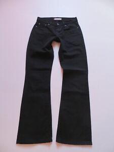 Levi-039-s-529-Bootcut-Jeans-Hose-W-27-L-30-schwarz-black-Stretch-Denim-TOP