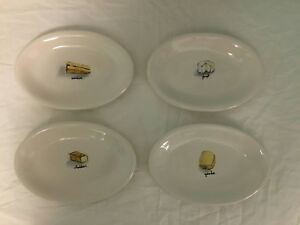 Image is loading Rae-Dunn-Oval-Cheese-Plates-Set-of-4- & Rae Dunn Oval Cheese Plates Set of 4 Plate Platter Goat Gouda ...
