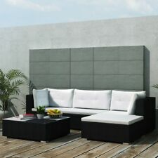 14PC PE Wicker Rattan Garden Outdoor Sofa Lounge Furniture Setting Brown/Black