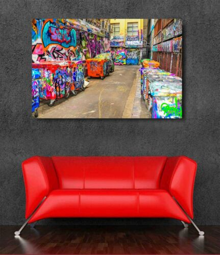 Graffitti Dumpsters West Coast Street Art Canvas Print Choose Print// Mounted